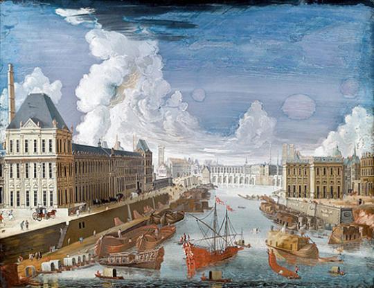 Johann Wolfgang Baumgartner (1702-1761). Veduten hinter Glas.
