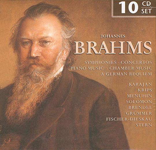 Johannes Brahms. Symphonies, Concertos, Piano Music, Chamber Music, A German Requiem.