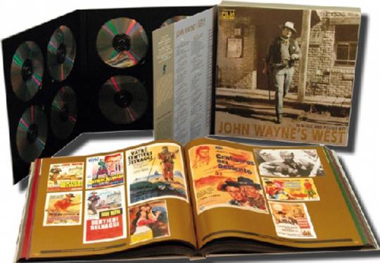 John Wayne's West - In Music And Poster Art. 10 CD & DVD BOX.