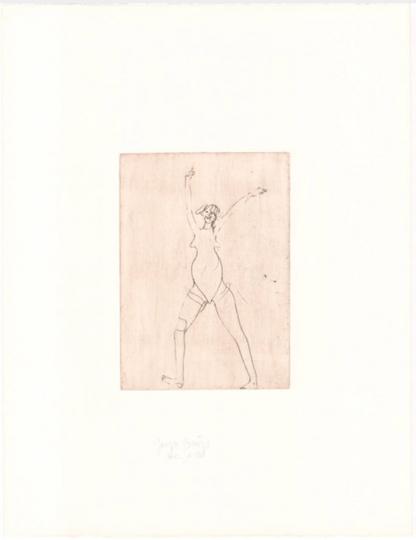 Joseph Beuys »Zirkulationszeit: Mädchen«. Nachlassgestempelt.