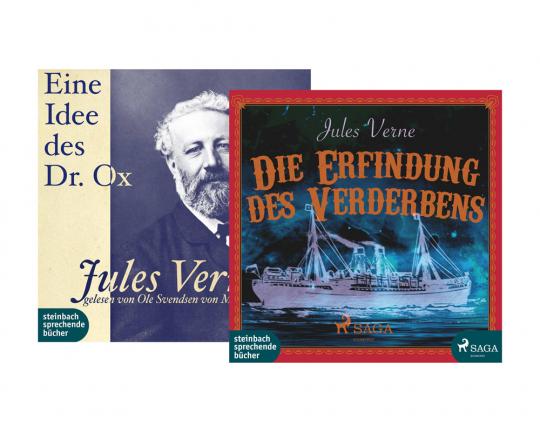 Jules Verne. Die Erfindung des Verderbens. Eine Idee des Dr. Ox. 2 Hörbücher im Set. 2 mp3-CDs.