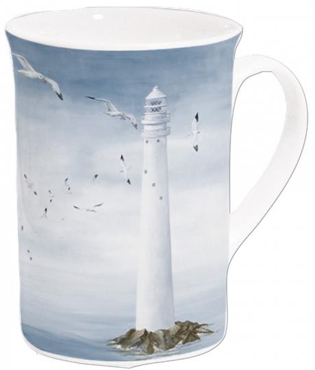 Kaffeebecher »Leuchtturm«.