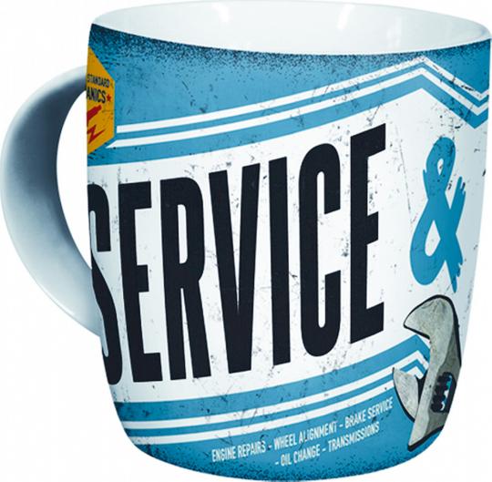Kaffeebecher »Service & Repair«.