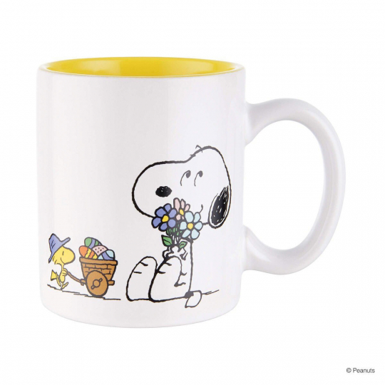 Kaffeetasse »Snoopy Blumen«.