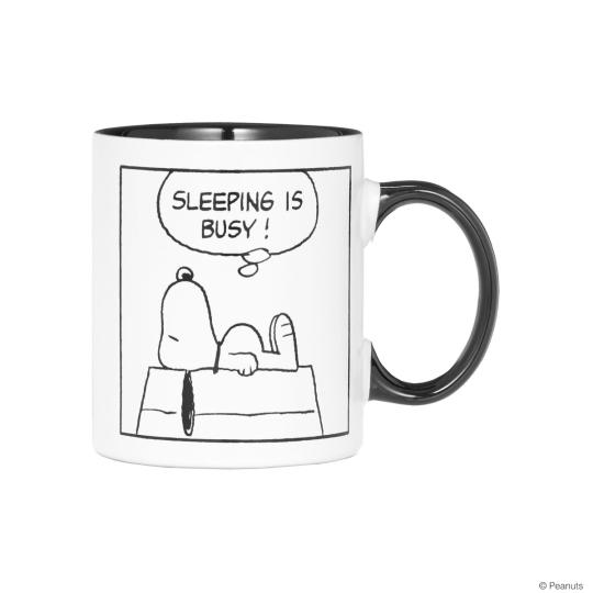 Kaffetasse »Schlafender Snoopy«.