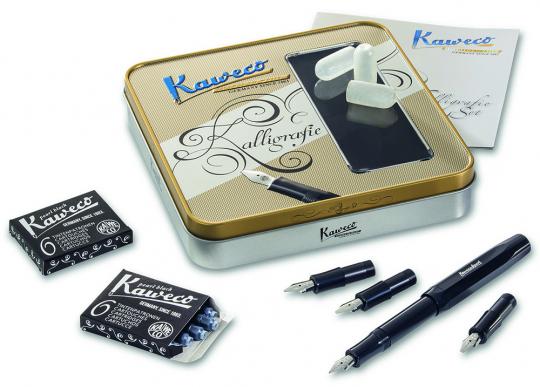 Kaweco-Kalligrafie-Set. Füllhalter mit 4 Federn.