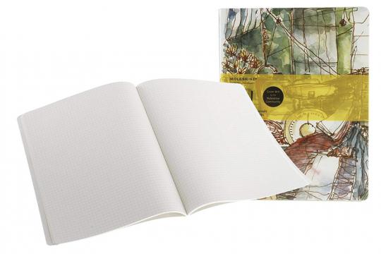 Kariertes Notizbuch Chinesischer Markt kariert groß. 2er-Set.