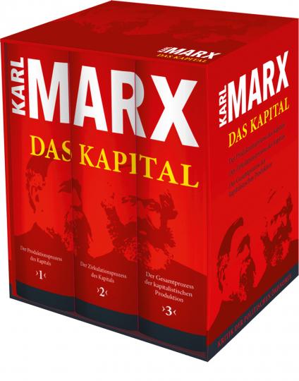 Karl Marx. Das Kapital. Vollständige Gesamtausgabe. 3 Bände im Schuber.