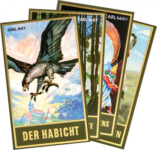Karl May. Gesammelte Werke. Set mit 4 Bänden.