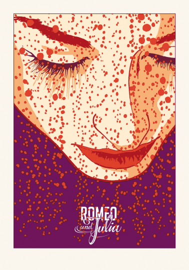 Kat Menschik. Original-Grafik »Romeo und Julia«.