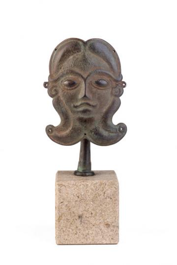 Keltenmaske. Hallein, Eisenzeit, um 350 v. Chr.