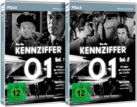 Kennziffer 01 Vol. 1+2 im Paket. 4 DVDs.