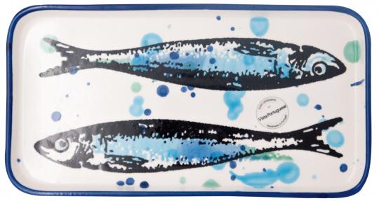 Keramik-Schale »Sardinen«, 26 cm.