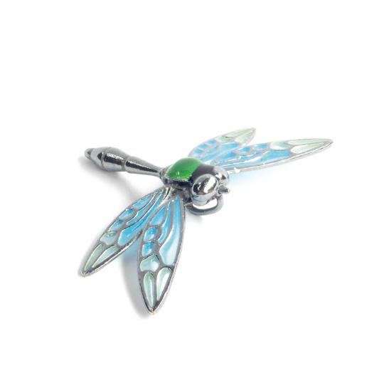 Kettenanhänger »Libelle« aus Kirchenfenster-Emaille.