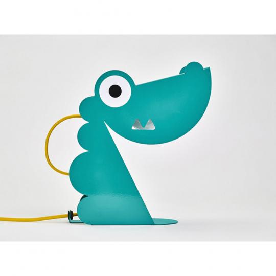 Kinderlampe Dinosaurier, türkis.