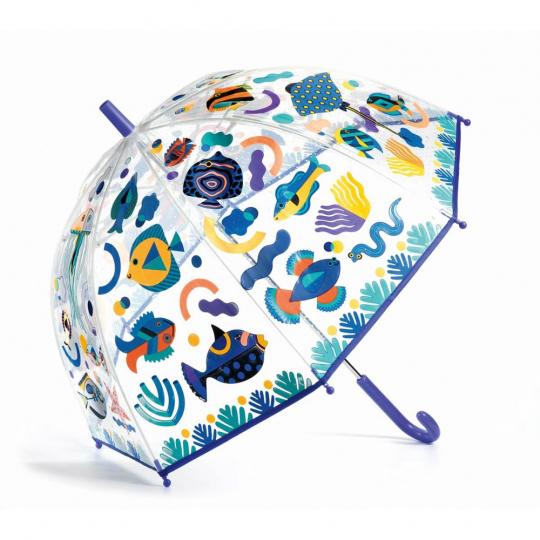 Kinderregenschirm »Fische« mit Farbwechsel.