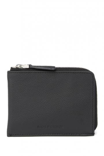 Kleines Leder-Portemonnaie »Lineage«, schwarz.