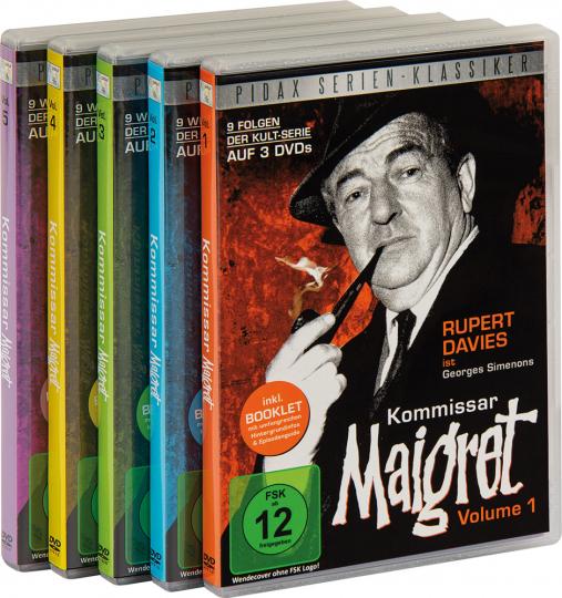 Kommissar Maigret Vol. 1-5. 45 Folgen. 15 DVDs.