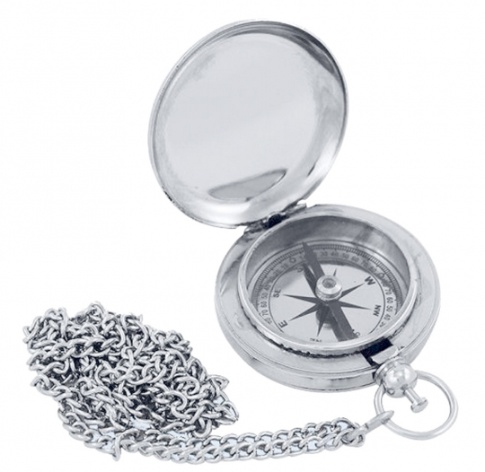 Kompass im Taschenuhrformat.