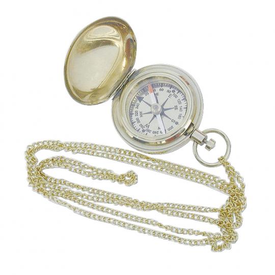 Kompass mit Kette.