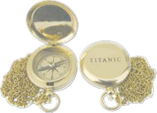 Kompass Titanic mit Kette.