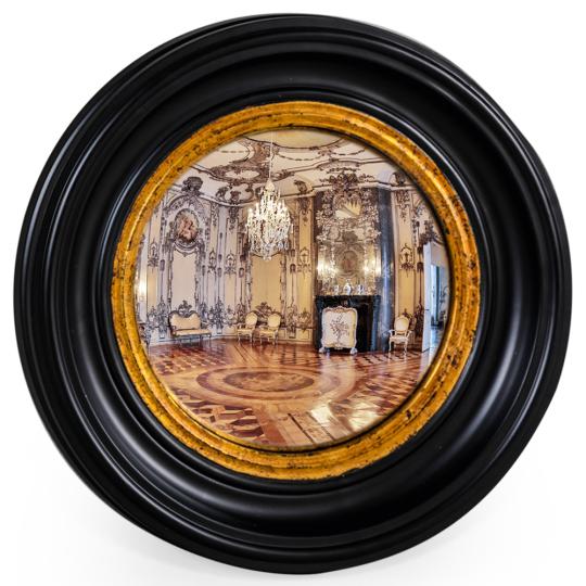Konvexer Spiegel, 40 cm.