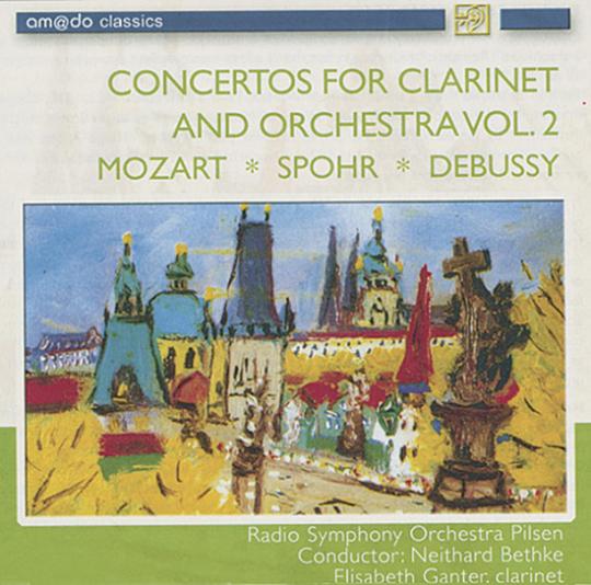Konzerte für Klarinette und Orchester CD Vol. 2. Mozart. Spohr. Debussy.