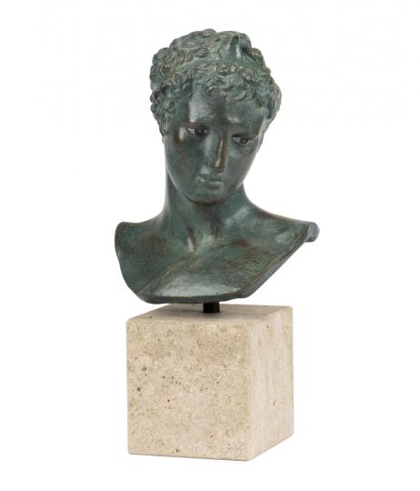 Kopf des Epheben von Marathon. Griechischer Hellenismus.