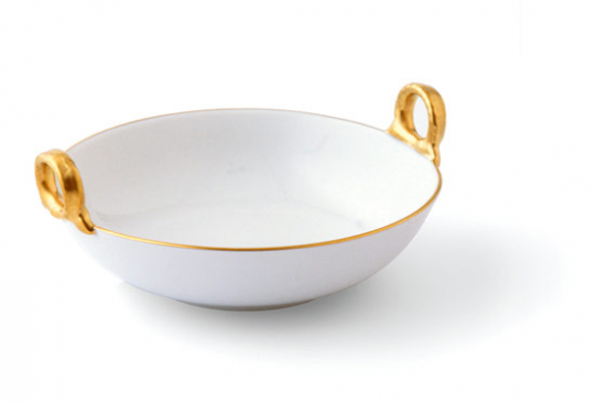 KPM Ringhenkelschälchen mit Goldrand.