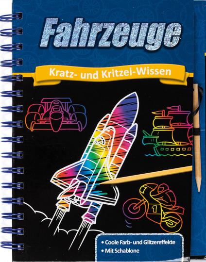 Kratz- und Kritzel-Abenteuer. Fahrzeuge.
