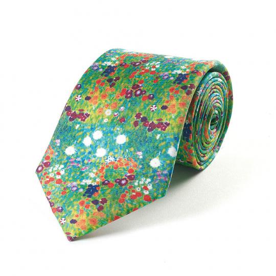 Krawatte Gustav Klimt »Garten«.