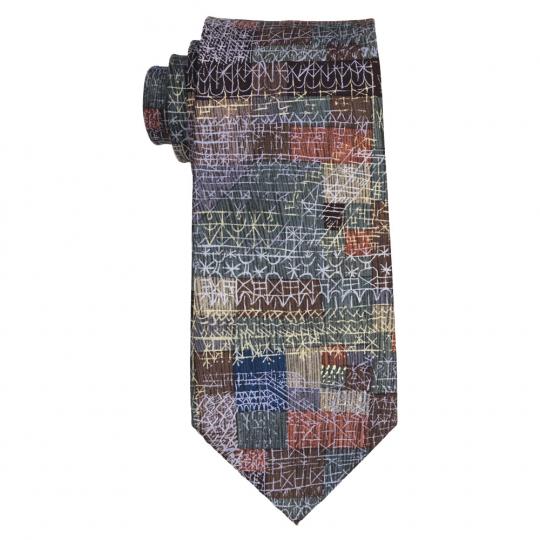 Krawatte nach Paul Klees »Structural I«.
