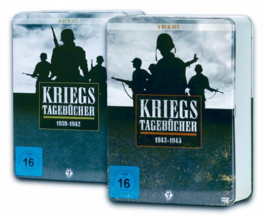 Kriegstagebücher 1939-1942 plus 1943-1945 (2 Metallboxen). 7 DVDs