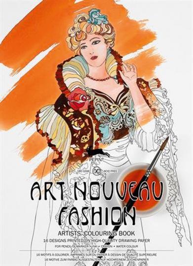 Künstler-Malbuch »Art Nouveau Fashion«.
