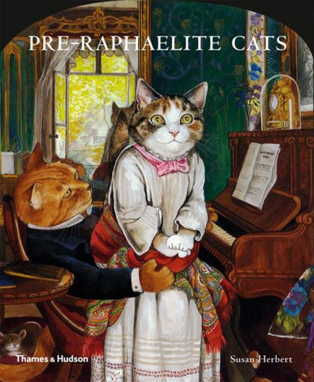 Kunst der Präraffaeliten mit Katzen. Pre-Raphaelite Cats.