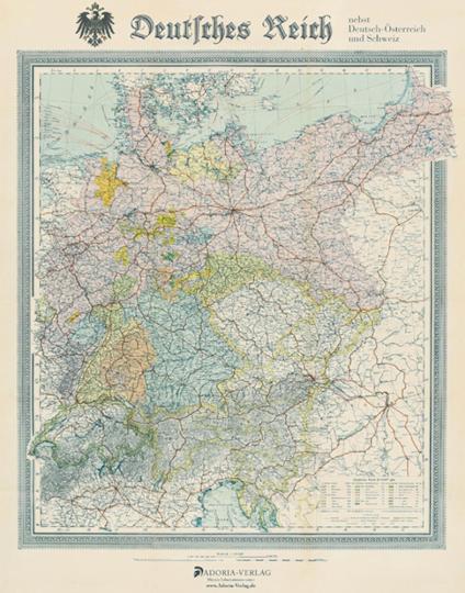 Landkarte Deutsches Reich um 1903
