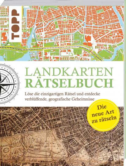 Landkarten Rätselbuch - die Rätselinnovation. Löse die einzigartigen Rätsel und entdecke verblüffende geografische Geheimnisse.
