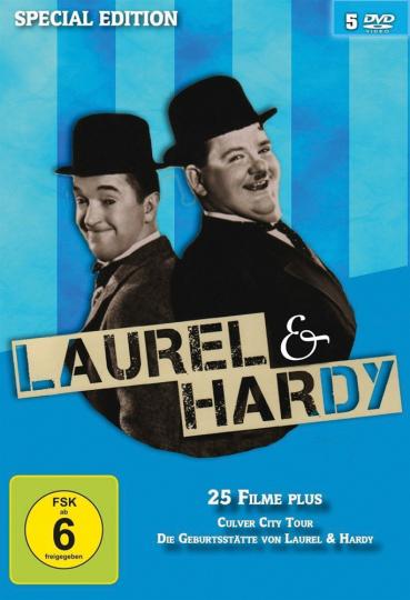 Laurel & Hardy - 25 Filme plus. 5 DVDs.