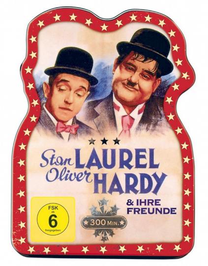 Laurel + Hardy und ihre Freunde. DVD in Blechdose