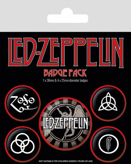 Led Zeppelin. 5 Badges.