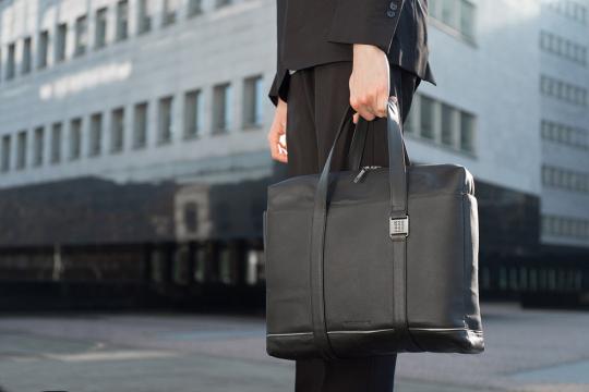 Leder-Businesstasche »Lineage«, schwarz.