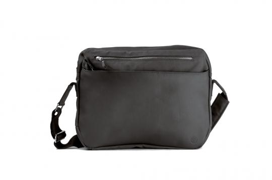 Leder-Kuriertasche »Waxcan«, schwarz.