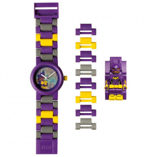 LEGO Batgirl Kinder-Armbanduhr mit Minifigur.