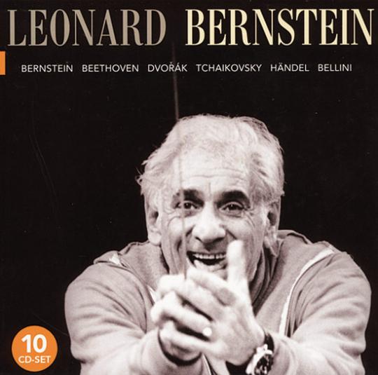 Leonard Bernstein (1918-1990). Komponist und Dirigent.