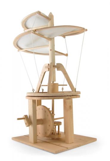 Leonardo da Vinci Helikopter. Holzkonstruktion.