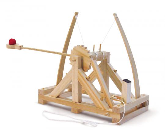 Leonardo da Vinci Katapult. Holzkonstruktion.