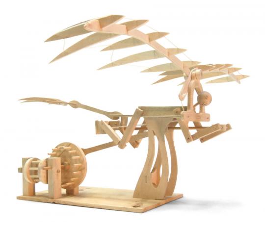 Leonardo da Vinci Ornithopter. Holzkonstruktion.
