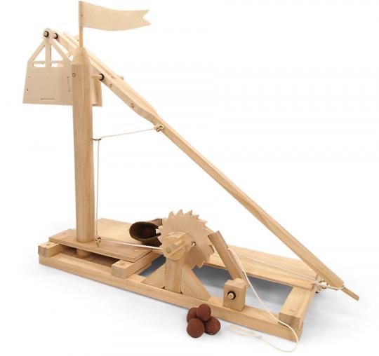 Leonardo da Vinci Trebuchet. Holzkonstruktion.