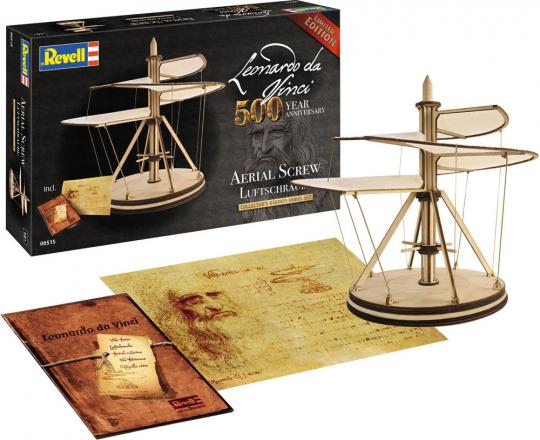 Leonardo da Vinci. Luftschraube. Holzbausatz.