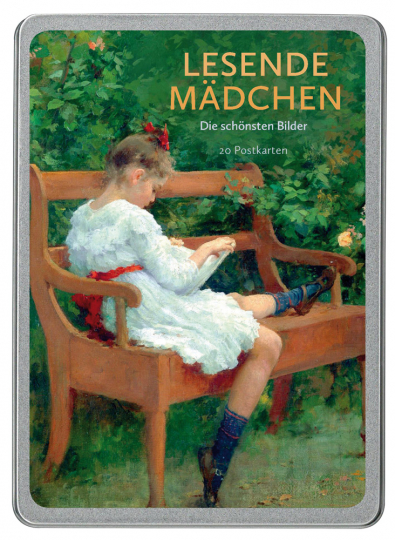 Lesende Mädchen. Die schönsten Bilder. Postkarten.